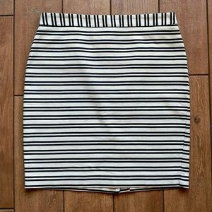 Loft Striped Pencil Skirt Size 10